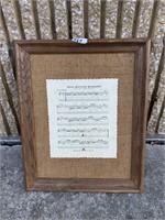 Foggy Mountain Breakdown sheet music wall hanger