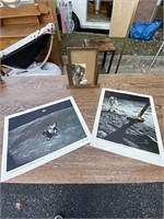 Moon pictures and picture frame