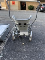 Baby stroller with many interchangeable pieces