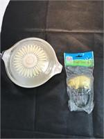 Pig Cast Iron Hook Glass Tupperware