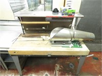 Butcher Block Top Table, Meat Saw, & More