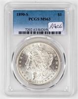 Coin 1890-S Morgan Silver Dollar PCGS MS63