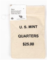 Coin Mint Sewn Bag 2015-P Washington Quarters
