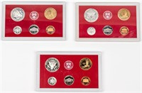 Coin 2001, 2002 & 2003 Silver Proof Sets