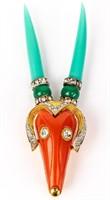 Jewelry Vintage Hattie Carnegie Antelope Brooch