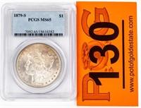 Coin 1879-S Morgan Silver Dollar PCGS MS65