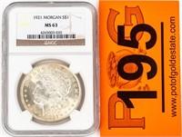 Coin 1921 Morgan Silver Dollar NGC MS3