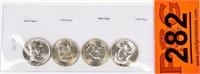 Coin 4 Key Franklin Half Dollars Brilliant Unc.