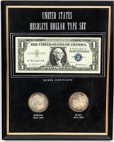 Coin United States Dollar Type Set Framed