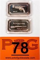 Coin (2) .999 1 Oz. Bars Winchester & S&W