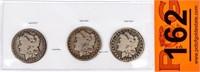Coin 3 Morgan Silver Dollars Keys!!!