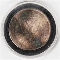 Coin 1904 Morgan Silver Dollar Unc. Rainbow Tone