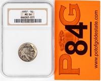 Coin1937 Buffalo Nickel NGC MS66