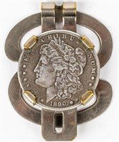 Coin Morgan Silver Dollar Money Clip