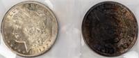 Coin 2  Morgan Silver Dollars 1921-P