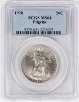 Coin 1920 Pilgrim U.S. Commemorative PCGS MS64