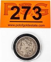 Coin 1886-S Morgan Silver Dollar in Fine Rare