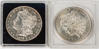 Coin 2 Morgan Silver Dollars 1878-S & 1881-O  BU
