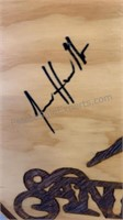"""AUTOGRAPHED, Casa Noble Tequila Wood Wall Art 19"""""""