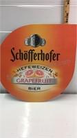 Schofferhofer Grapefruit Bier Metal Sign
