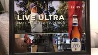Michelob Ultra PGA Tour Wall Mirror approx 25x34