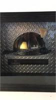 Guinness Fire Helmet Shadow Box Wall Decor
