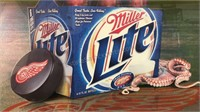 Large Miller Lite Red Wings Wall Decor 36x28