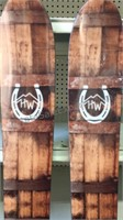 "Pair of High West Skis/Decor 65 1/2"" each -"