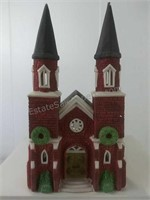 Dickens Village series Brick  Abbey