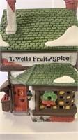 Dickens village series T Wells Fruit & Spice Stan
