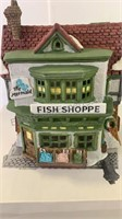 Dickens village series The Mermaid Fish Shoppe