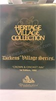 Dickens village series Crown & Cricket Inn 1st