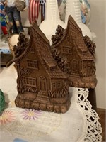 2PC VTG SYROCO? COTTAGE STYLE BOOKENDS