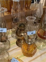 LOT OF 3 VTG OIL LAMPS