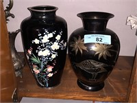 2PC ASIAN STYLE VASES / BRASS COPPER FROM BALLY'S
