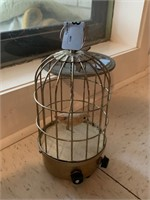 VTG MUSICAL BIRD IN A CAGE DECOR