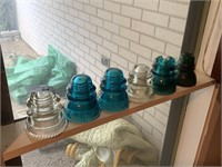 LOT OF VARIOUS GLASS INSULATORS