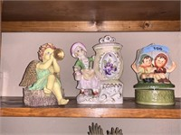 3PC DECORATIVE MUSIC BOXES AND MORE