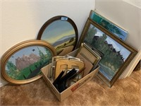 LARGE LOT OF ART WORK / MORE