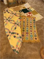 LOT OF VARIOUS AFGAHNS (TOPPER OF QUILT)