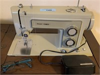 VTG SEARS KENMORE SEWING MACHINE W TABLE / MORE