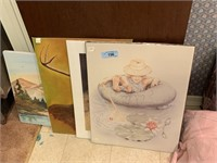 LOT OF CANVAS ART / POSTERS MORE
