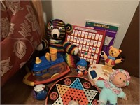 LARGE LOT OF VTG TOYS AND GAMES