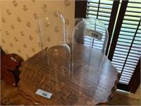 4PC VTG GLASS BELL JARS