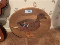 OVAL DUCK STRING ART WALL HANGING