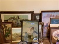 LARGE LOT OF ART WORK/ PRINTS / LITHOS