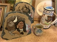 LOT OF NATIVE AMERICAN ART / STEIN MORE