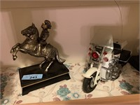 KNIGHT SCULPTURE / MOTORCYCLE