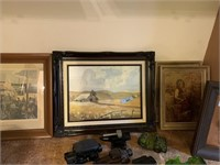 LARGE LOT OF FRAMED WALL ART / MORE
