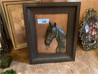 MID CENTURY COPPER 3D WALL HORSE LOT